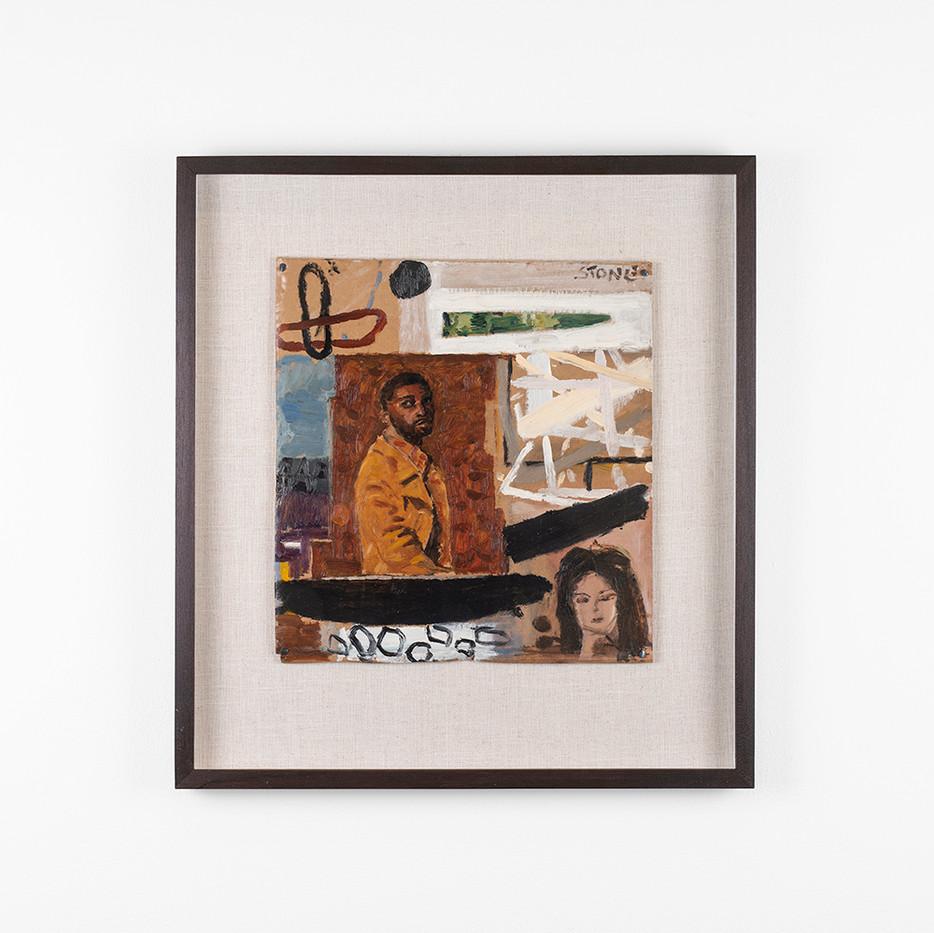 Simon Stone | The Rap | 2020 | Oil on Cardboard | 33 x 31 cm