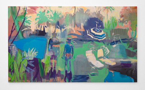Kate Gottgens | Witching Hour | 2018 | Oil on Canvas | 131 x 220 cm