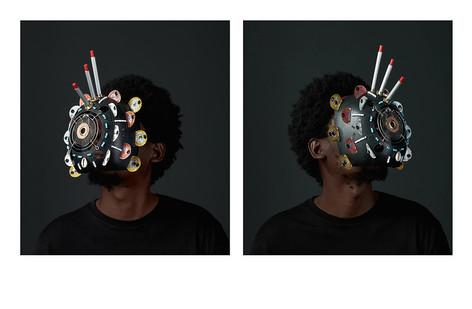 Cyrus Kabiru | Macho Nne: The Black Magic (Diptych) | 2018 | C-Type Print on Diasec Mount | 100 x 90 cm Each | Edition of 1 + 2 AP