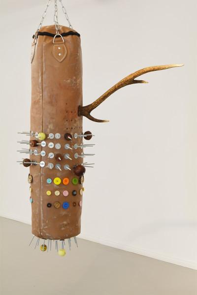 Masimba Hwati | Rinamanyanga Hariputirwe VI (That Which Has Horns Cannot Be Wrapped) | 2016 | Mixed Media | 168 x 90 x 45 cm