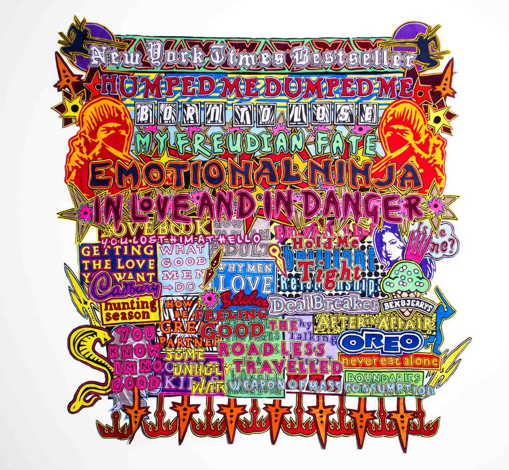Jody Paulsen | Emotional Ninja | 2015 | Felt | 250 x 236 cm