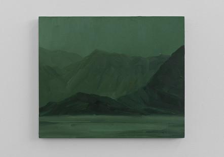 Jake Aikman | Landfall (Study) | 2016 | Oil on Board | 40 x 48 cm