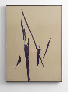 Peter Eastman | Small Shadow II | 2016 | Enamel on Aluminium | 98 x 73 cm