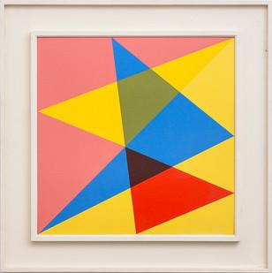 Albert Newall | Harmonic Development within a Square | 1958 | Oil on Board | 60 x 60 cm