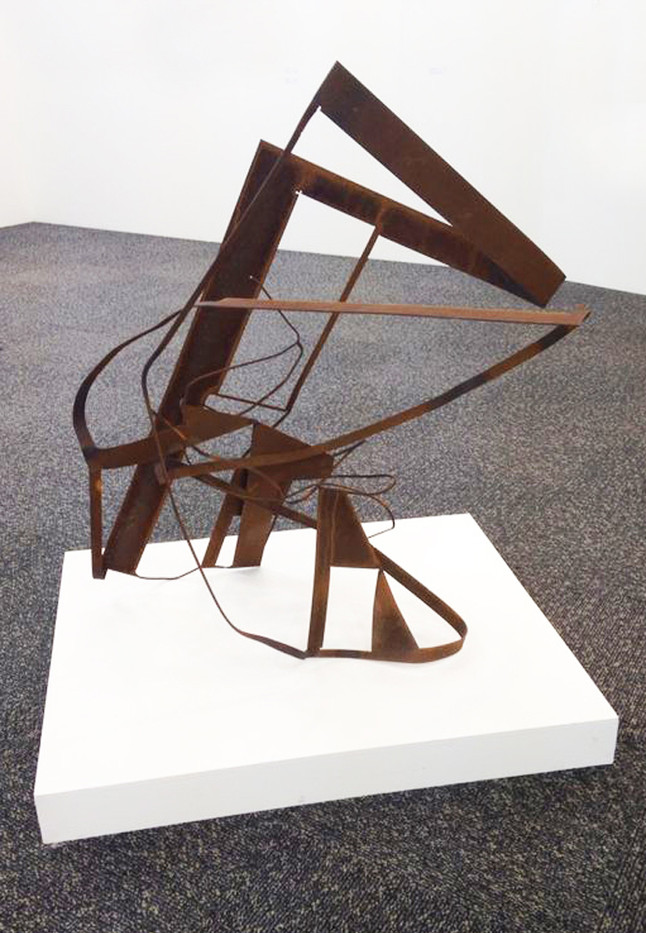 Ruann Coleman | Bent for every time | 2013 | Flat Sheet Steel | 107 x 65 x 95 cm