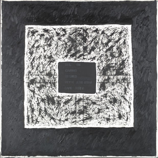 Kevin Atkinson   Illusion as Matter   c. 1970   Oil on Canvas   168 x 168 cm