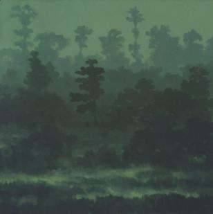 Jake Aikman | Marsh II | 2014 | Oil on Canvas | 60.5 x 60.5 cm
