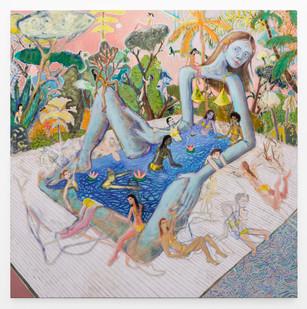 Marlene Steyn | mother, moisture eyes her | 2019 | Oil on Canvas | 150 x 150 cm