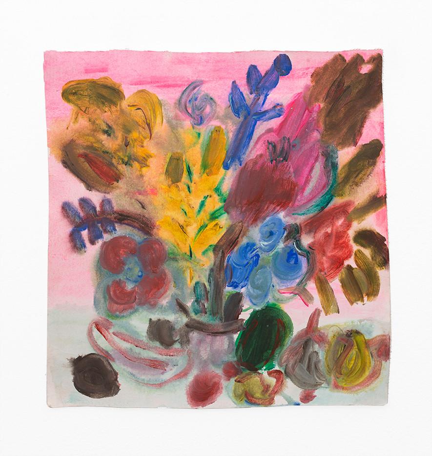 Georgina Gratrix | Coral Floral | 2020 | Watercolour on Paper | 37 x 35.2 cm