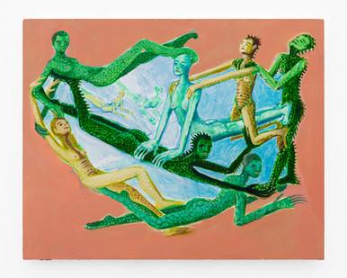 Marlene Steyn | she shore shesaur she soar | 2019 | Oil on Board | 24 x 30 cm