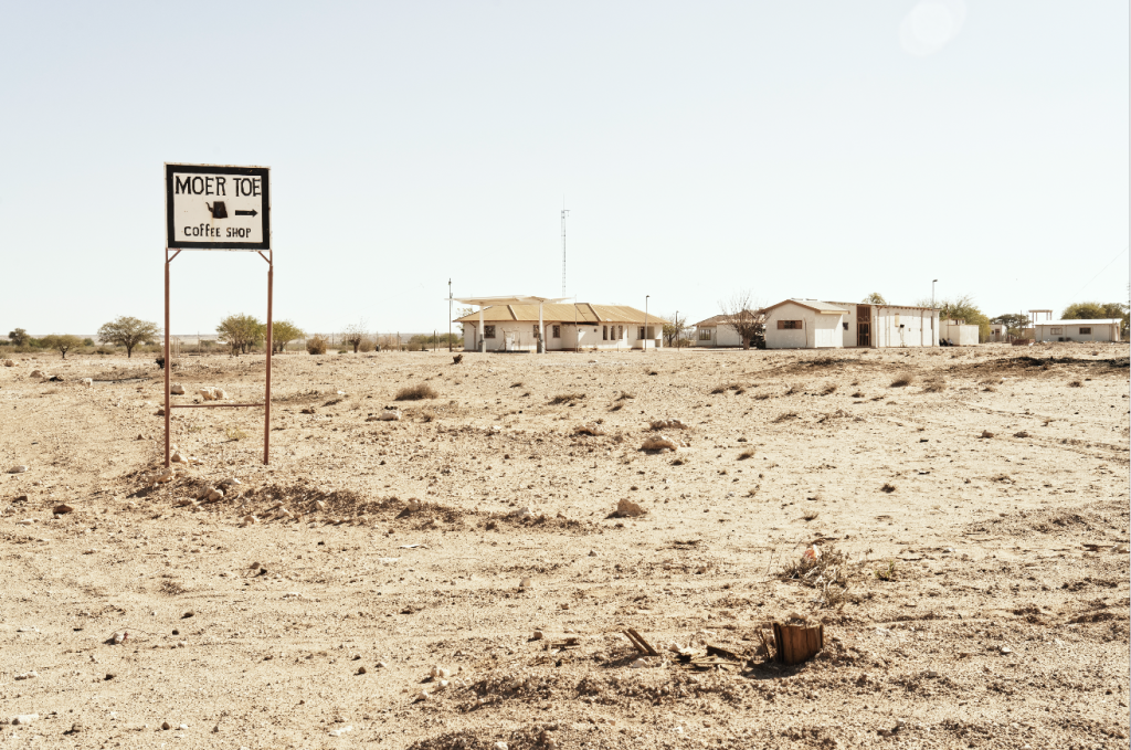 "Margaret Courney-Clarke | ""Moer toe coffee shop"", Aroab, D614, Kalahari, Namibia | Giclée Print on Photo Rag Baryta Paper | 50 x 75 cm | Edition of 6 + 2 AP"