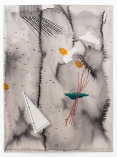 Mongezi Ncaphayi | Perpetual Optimism I | 2019 | Indian Ink and Watercolour on Cotton Paper | 75.5 x 56 cm