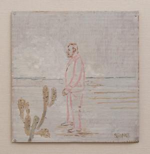 Simon Stone   Man and Cactus   2016   Oil on Cardboard   28 x 27 cm