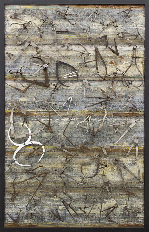 Willem Boshoff   Home to Roost   2015   Calipers on Metal   188 x 125 cm