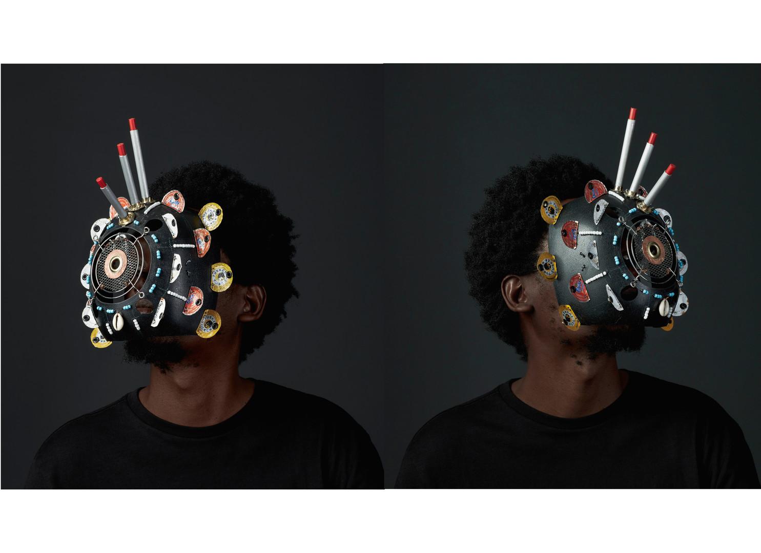 Cyrus Kabiru | Macho Nne The Black Magic (Diptych) | 2018 | C-Type Print on Diasec Mount | 100 x 90 cm Each | Edition of 1 + 2 AP