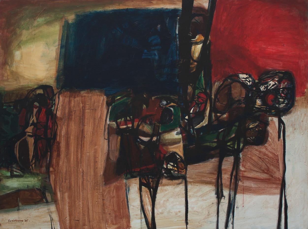 Eben Van Der Merwe | Figures No 539 | 1966 | Oil on Board | 91.5 x 122 cm