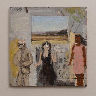 Simon Stone   The Passing (Girl with Skull)   2016   Oil on Cardboard   32 x 32 cm