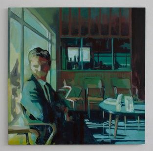 Kate Gottgens | Airport | 2014 | Oil on Canvas | 105 x 105 cm
