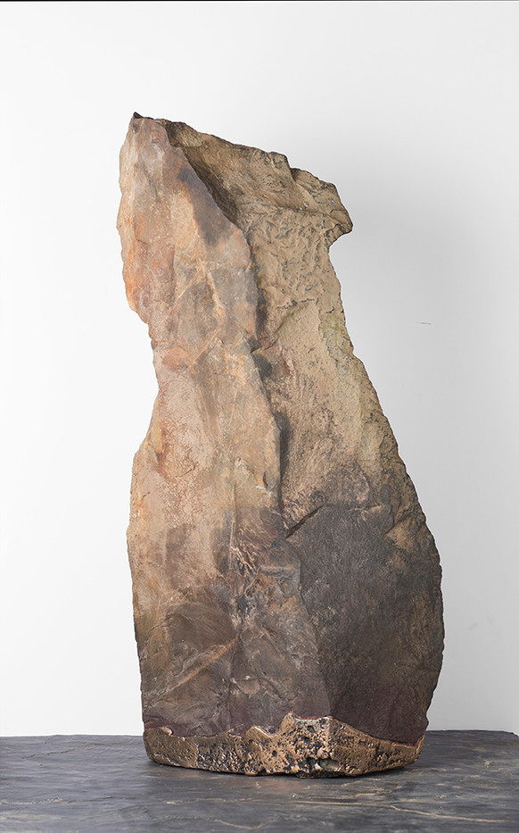 Ruann Coleman   Auto Correct   2017   Bronze and Rock   67 x 36 cm
