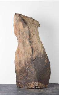 Ruann Coleman | Auto Correct | 2017 | Bronze and Rock | 67 x 36 cm