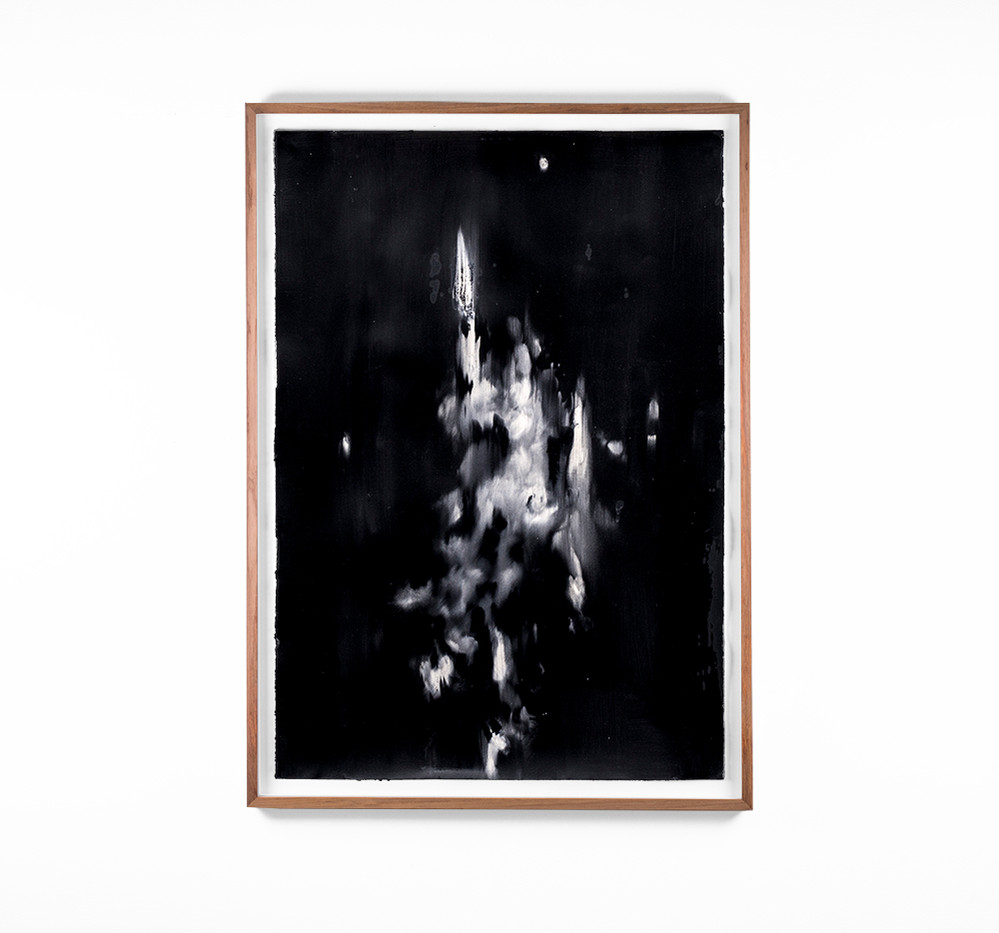 Alexandra Karakashian | Undying XLIII | 2018 | Oil on Sized Paper | 99 x 70 cm