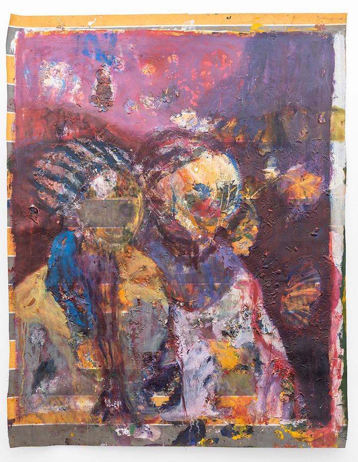 Mostaff Muchawaya | Untitled | 2018 | Acrylic on Canvas | 150 x 116.5 cm