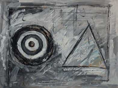 Kevin Atkinson | Untitled (4) | 1977 | Oil on Card | 76.5 x 102 cm
