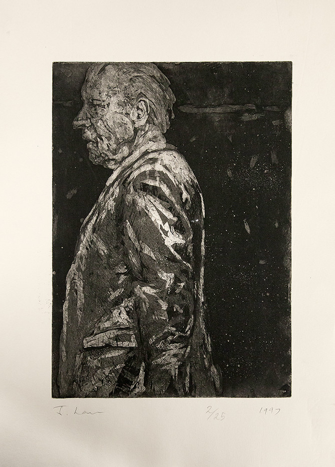 Johann Louw | Groot Figuur/Profiel | 1997 | Etching | 48 x 35 cm | Edition of 15
