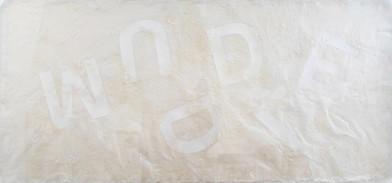 Willem Boshoff   Muddle   2013   Handmade Milkweed Paper   110 x 230 cm