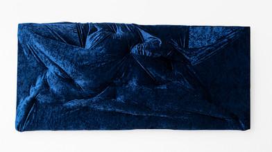 Akudzwe Elsie Chiwa | Pray | 2020 | Hand-Stitched Velvet on Canvas Frame | 81 x 180 x 15 cm