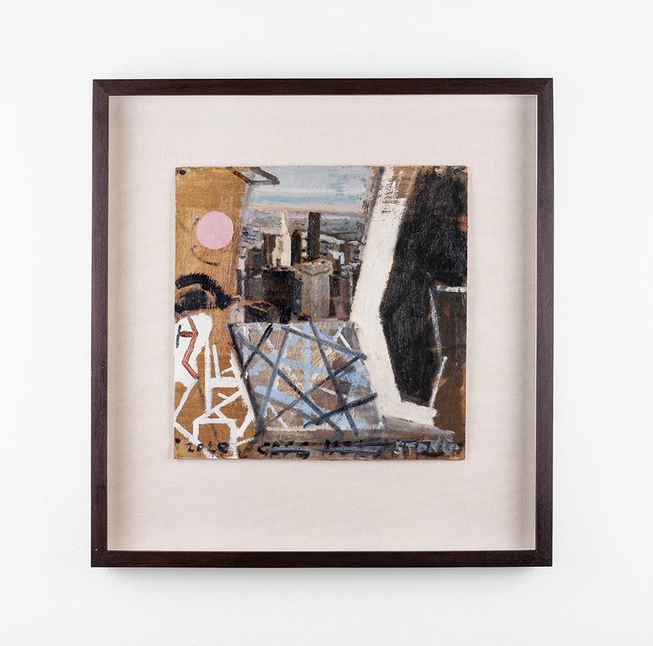 Simon Stone | N.Y. | 2020 | Oil on Cardboard | 29 x 28.5 cm