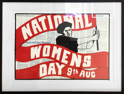 Lionel Davis | National Women's Day | 1986 | Screen Print on Paper | 45 x 63.5 cm