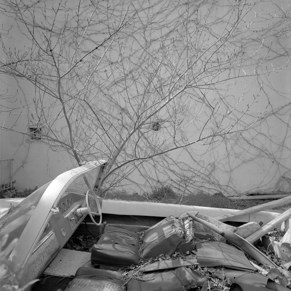 Abrie Fourie   Polígon de sa Platja, Port de Sóller, Balearic Islands, Spain   2012   Hand Printed Black & White Photograph on Baryta Paper   120 x 120 cm   Edition of 3