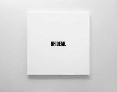 Ed Young | OH DEAR. | 2018 | Oil on Canvas | 100 x 100 cm