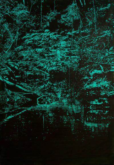 Peter Eastman | Deep Chine XXII | 2014 | Oil on Aluminium | 130 x 90 cm
