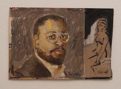 Simon Stone   The Author   2016   Oil on Cardboard   22 x 31 cm