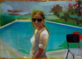 Kate Gottgens | Swimming Pool, Maputo 1978 | 2012 | Oil on Canvas | 84 x 120 cm