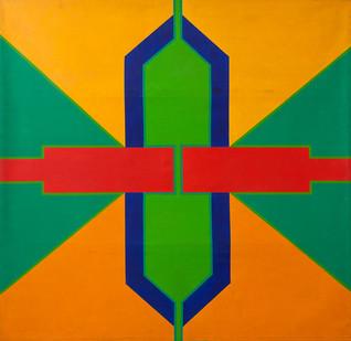Trevor Coleman | Sygnos | 1967 | Acrylic on Canvas | 193 x 201 cm