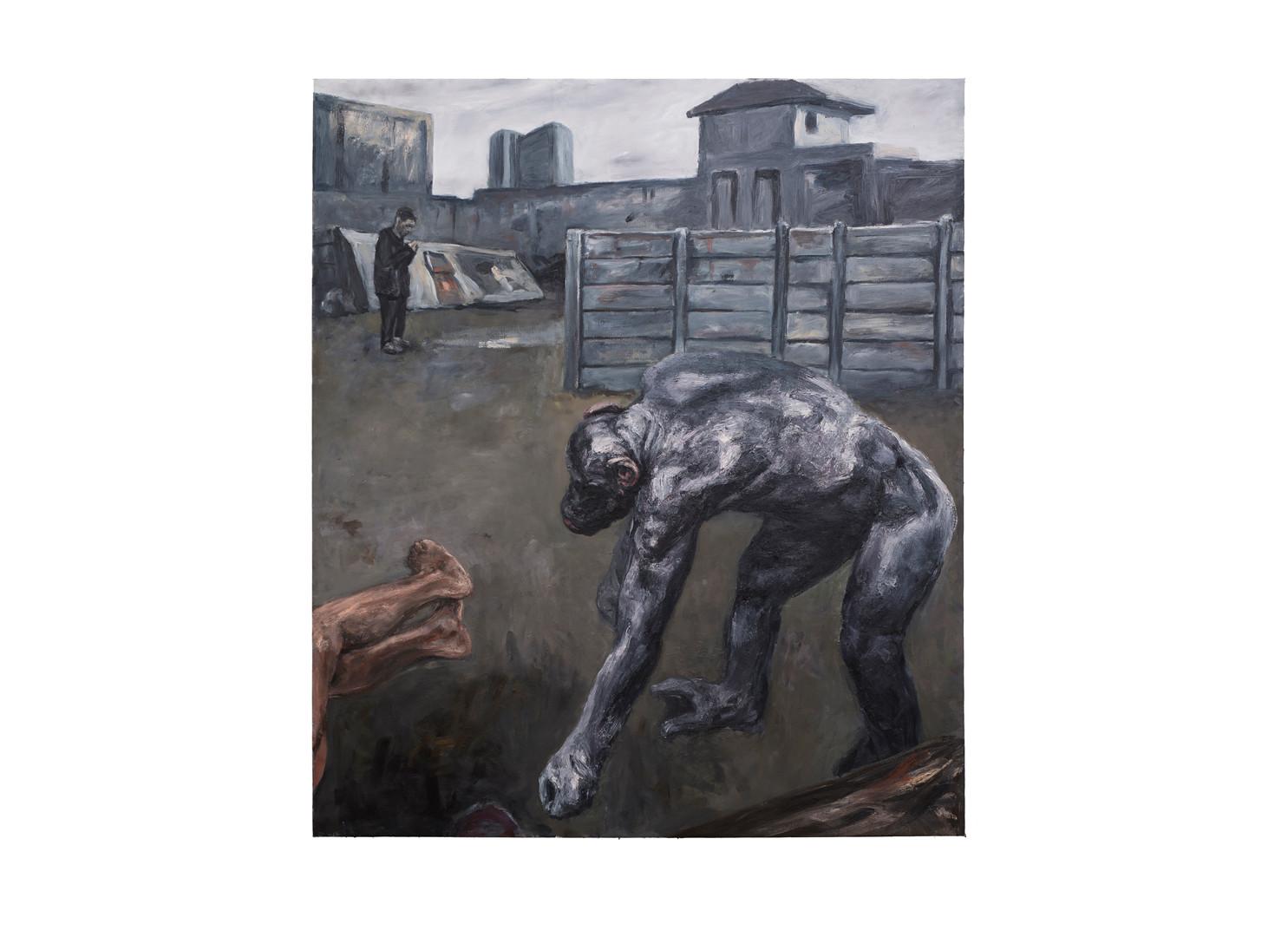 Johann Louw | Angelus | 2017 | Oil on Canvas | 234 x 200 cm
