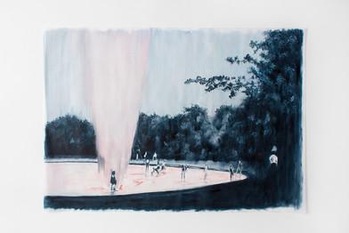 Ruby Swinney | A Lesser Mystery | 2016 | Oil on Tracing Paper | 68 x 92 cm