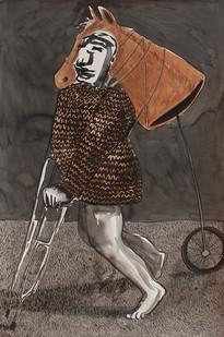 Colbert Mashile | Prodigal Son | 2014 | Watercolour on Paper | 121 x 80 cm