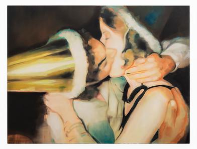Kate Gottgens | New Years Kiss | Oil on Canvas | 102.5 x 135.5 cm