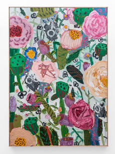 Georgina Gratrix | Lotus Blossoms | 2018 | Oil on Canvas | 170 x 120 cm