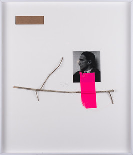 Ruann Coleman | Ode | 2017 | Found Twig, Photograph and Tape | 49.5 x 43 cm