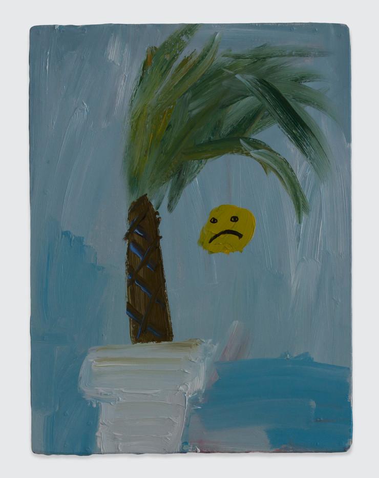 Georgina Gratrix | Sad | 2014 | Oil on Board | 40 x 30 cm