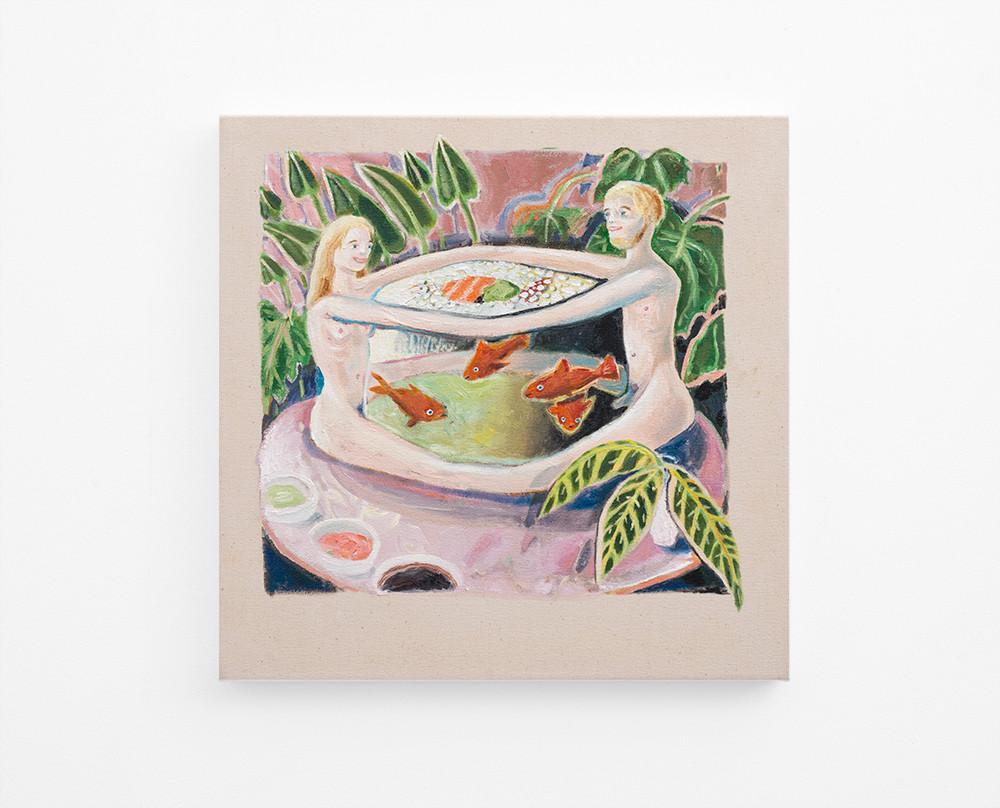 Marlene Steyn | Maki Love (after Matisse) | 2017 | Oil on Canvas | 50 x 50 cm