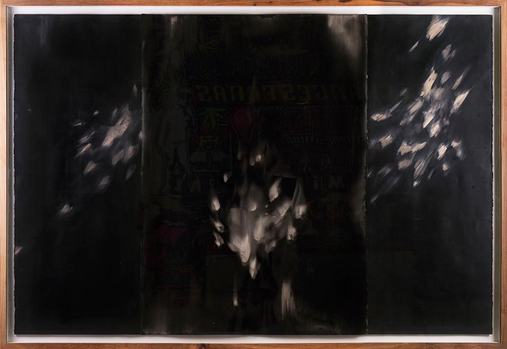 Alexandra Karakashian | Undying (beneath) I | 2017 | Oil on Sized Paper | 99 x 148 cm