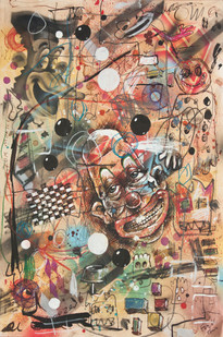 Barry Reigate | Untitled (why?) | 2013-2014 | Mixed Media on Paper | 41.5 x 28.5 cm