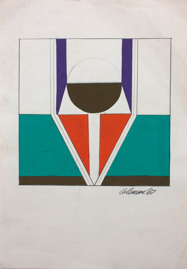 Trevor Coleman | Untitled | 1967 | Gouache and Pencil on Paper | 39 x 27 cm