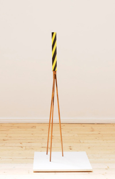 Ruann Coleman | Detour | 2015 | Iron, Wood and Painted Steel | 112 cm